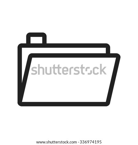 Folder, file, document icon vector image.Can also be used for office. Suitable for mobile apps, web apps and print media.