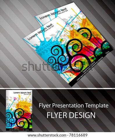 Folder flyer design content background. editable vector illustration - stock vector