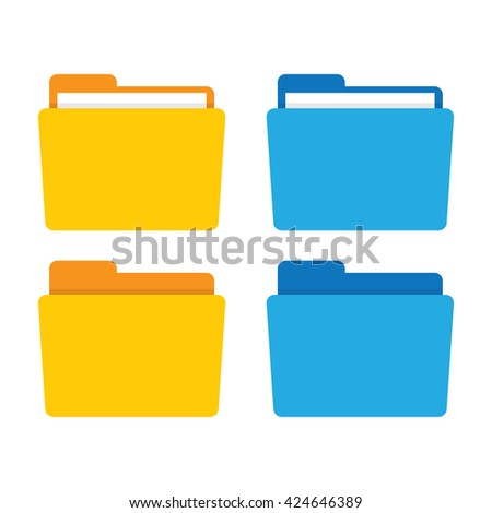 Folder for documents icon - stock vector