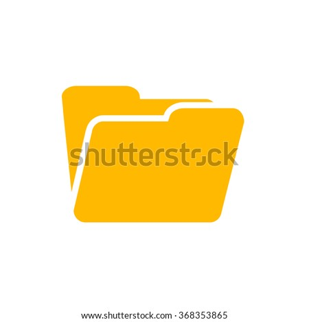 Folder icon - stock vector