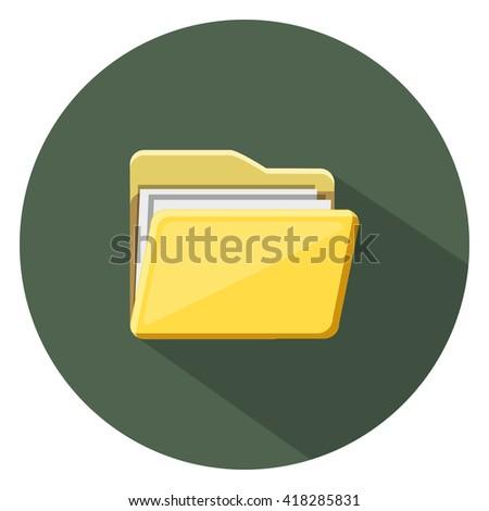folder icon - stock vector