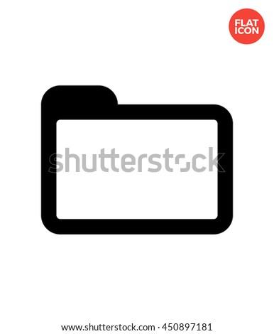 Folder Icon Flat Style. Computer Folder Vector. Folder Isolated Icon. Basic Folder Illustration. Folder Icon. Classic Folder Icon for Apps UI. Computer Folder Web Icon. - stock vector