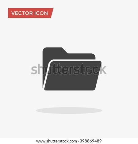 Folder Icon in trendy flat style isolated on grey background, for your web site design, app, logo, UI. Vector illustration, EPS10. - stock vector
