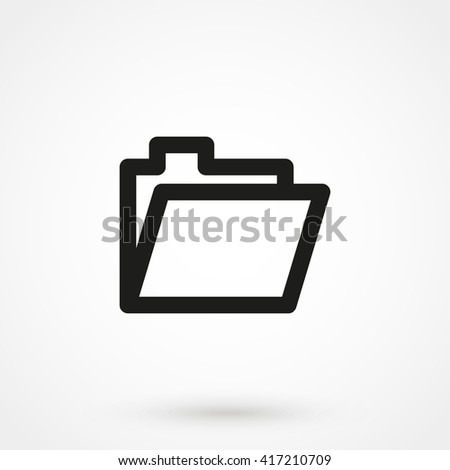 Folder icon isolated on background. Modern flat pictogram, business, marketing, internet concept. Trendy Simple vector symbol for web site design or button to mobile app. Logo illustration