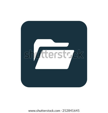 folder icon Rounded squares button, on white background  - stock vector
