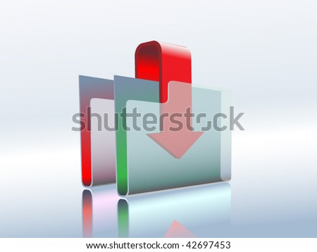 folder icon using in computers - stock vector