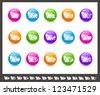Folder Icons - 2 of 2 // Rainbow Series - stock vector