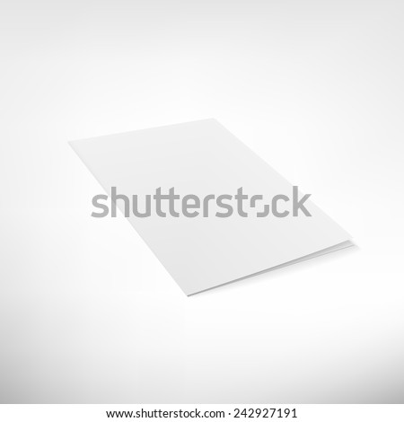 Folder page on white background. Blank vector brochure for business presentations