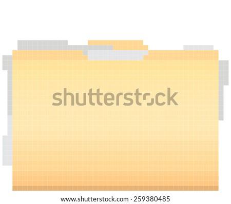 folder pixel art - stock vector
