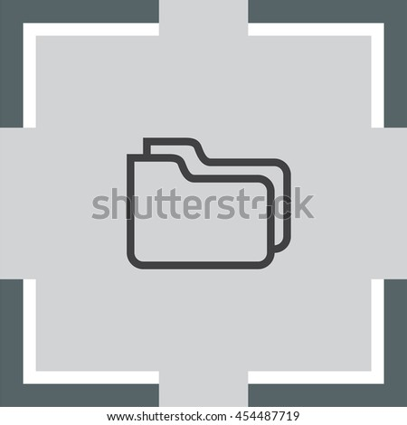 Folder sign line vector icon. Accounting audit sign. Archive symbol.