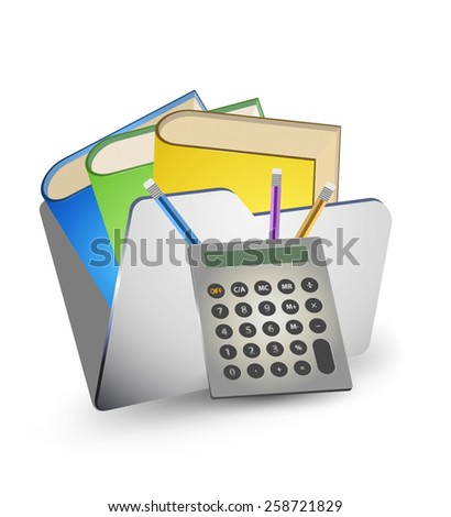 Folder storage data,file and data management vector icon on a white background