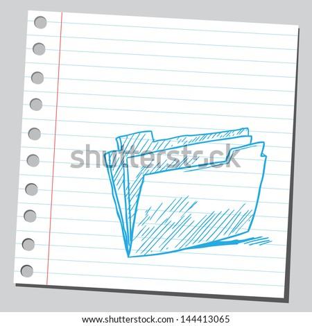 Folder symbol - stock vector
