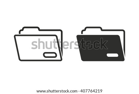 Folder   vector icon. Black  illustration isolated on white  background for graphic and web design. - stock vector