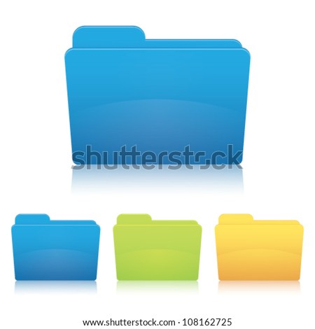 Folder. Vector illustration. - stock vector