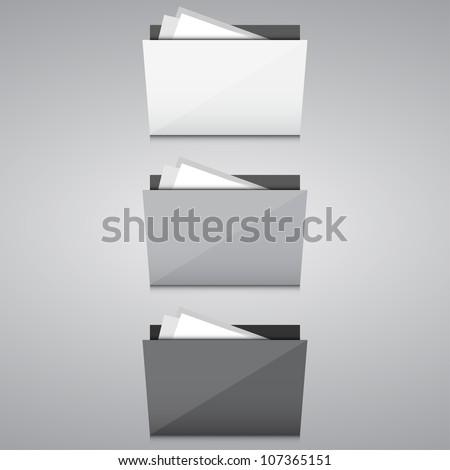 Folders - stock vector