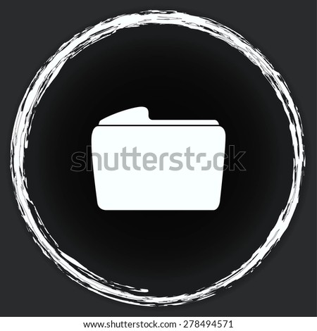 Folders and files icon - stock vector