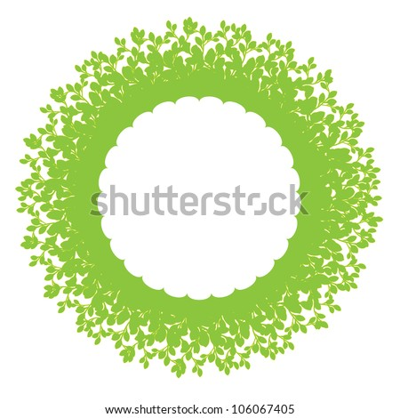 Foliage ring with copy space - stock vector