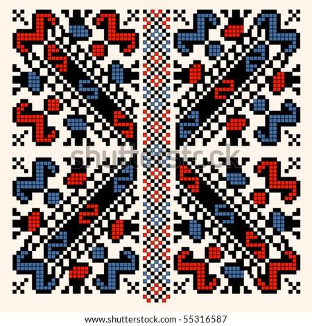Folk pattern - stock vector