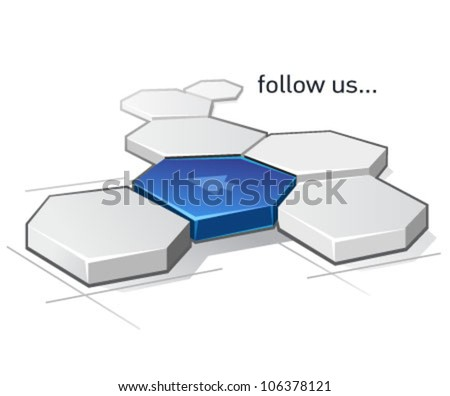follow us vector icon - stock vector