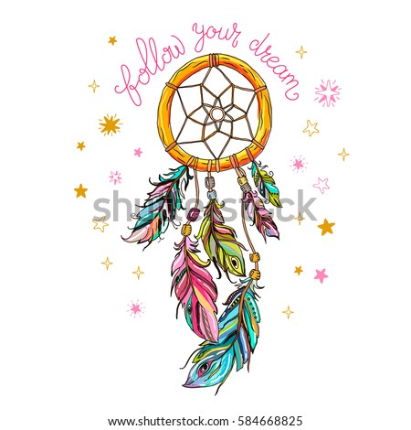Dream catcher stock images royalty free images vectors for Dream catcher graphic