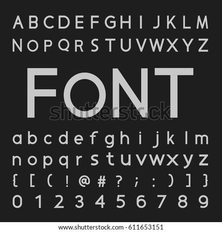 Western Style Retro Distressed Alphabet Font Stock Vector 309621554
