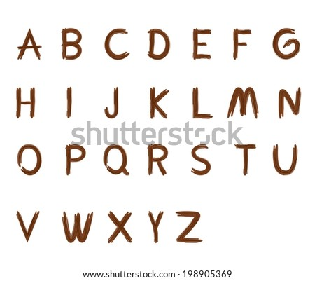 Font creative.ABC collection.Isolated High Quality Wood sharp letters. a, b, c, d, e, f, g, h, i, j, k, l, m, n, o, p, q, r, s, t, u, v, w, x, v, z - stock vector