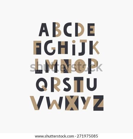 font design. vector - stock vector