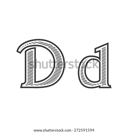 Font tattoo engraving letter d shading stock vector hd royalty free font tattoo engraving letter d with shading altavistaventures Gallery