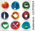 Food and drink icons. Eps10 .Image contain transparency and various blending modes - stock photo