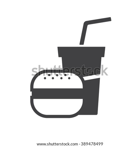 Food and drink vector icon. - stock vector