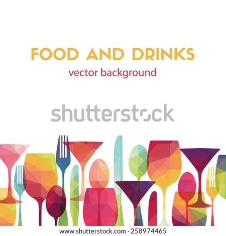 Food and drinks. Vector illustration - stock vector