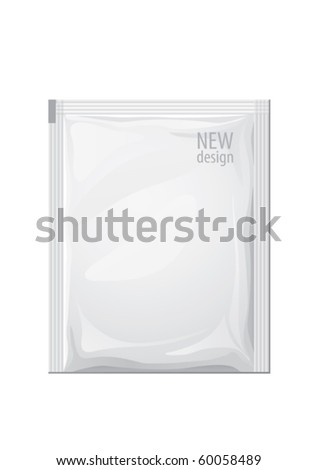 food bag for new design, vector - stock vector