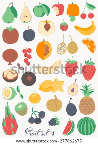 Food collection - Fruit - stock vector