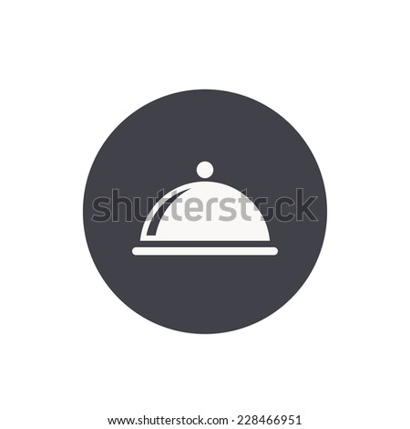food cover ico - stock vector