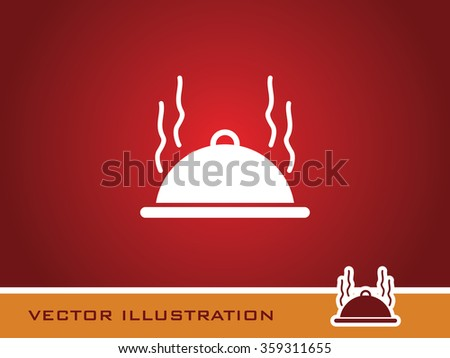Food Cover Icon. Eps-10. - stock vector