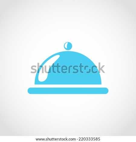 Food cover Icon Isolated on White Background - stock vector