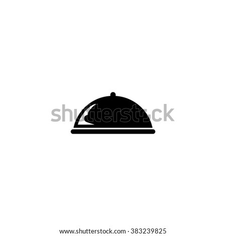 Food cover icon. Simple black vector symbol. Logo for web. Image for business.