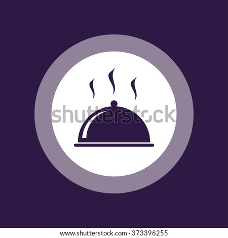 Food cover icon . Vector illustration - stock vector