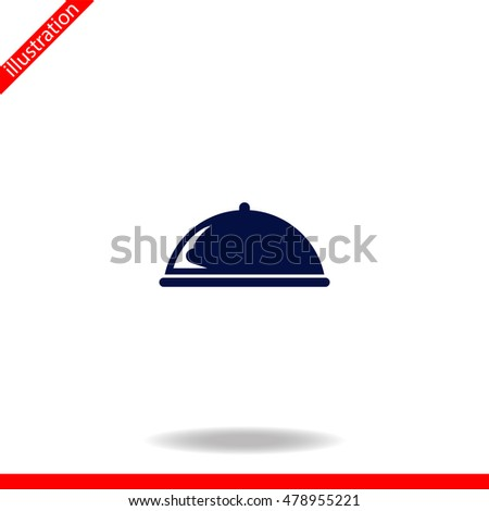 Food cover vector and icon. Simple illustration.