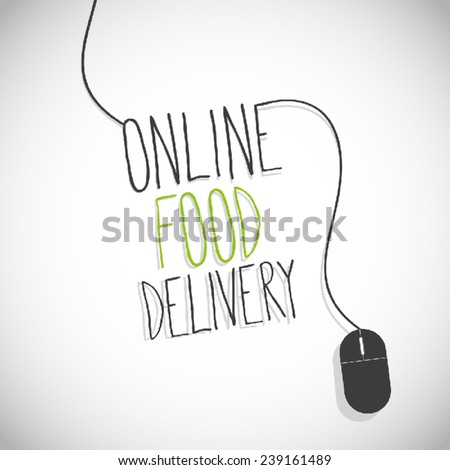 food delivery internet - stock vector