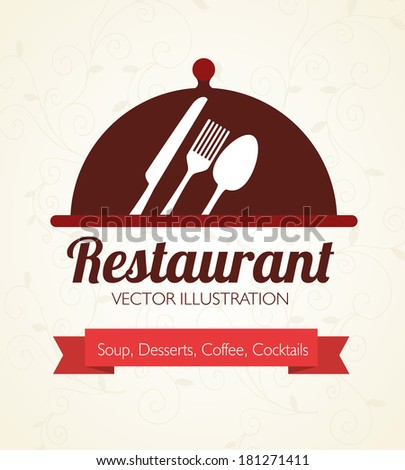 food design over beige background vector illustration - stock vector