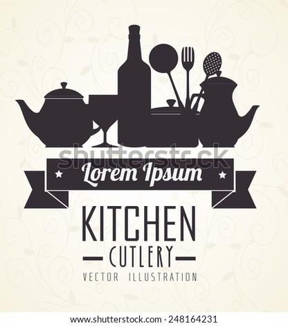 Food design over white background, vector illustration. - stock vector