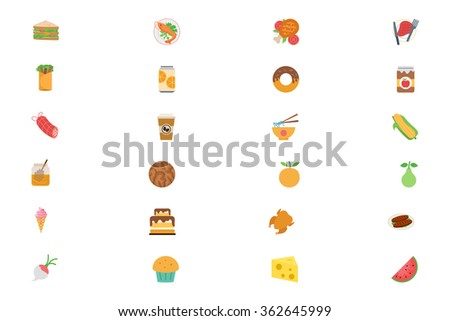 Food Flat Vector Icons 5
