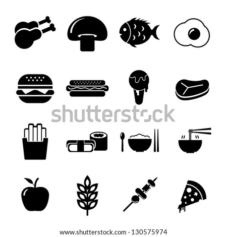 Food Icon Black and White