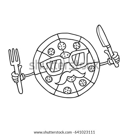 Food Icon For Menu Cafe And Restaurant Coloring Book Isolated On White Background