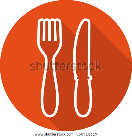Food icon. Lunch icon. Fork and knife icon. Lunch