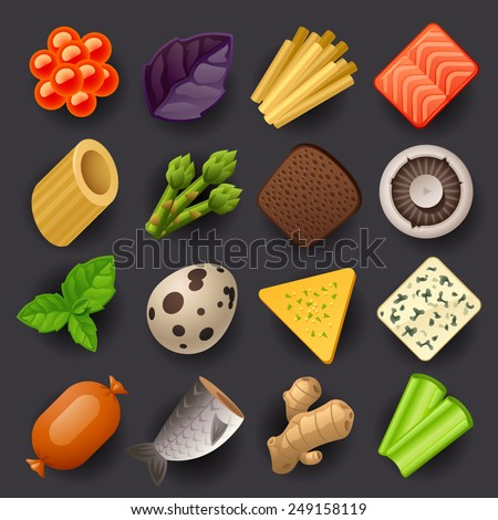 food icon set-2 - stock vector