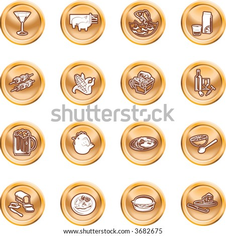 Food Icon Set A set of food and drink icons. No meshes used.