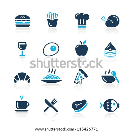 Food Icons - 1 // Azure Series - stock vector