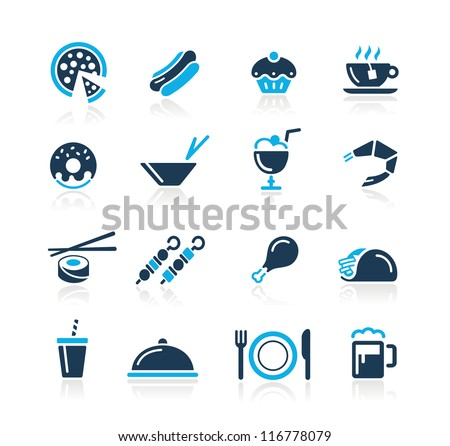 Food Icons - 2 // Azure Series - stock vector